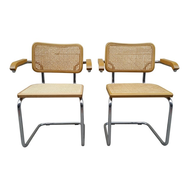 Marcel Breuer Italian Chairs - A Pair - Image 1 of 9