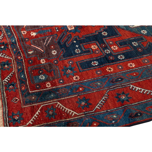 Textile Mid 20th Century Vintage Rug For Sale - Image 7 of 9