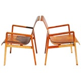 Image of Vintage Pair Hallway 403 Chairs by Alvar Aalto For Sale