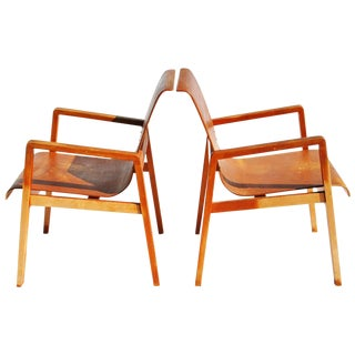 Vintage Pair Hallway 403 Chairs by Alvar Aalto For Sale