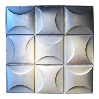 Vintage Aluminum Wall Panels- Set of 9 For Sale
