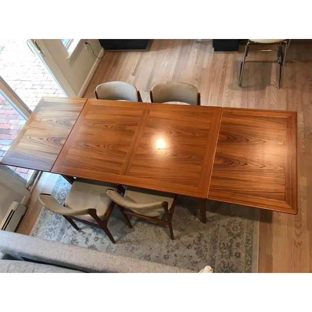 Brown Mid-Century Dining Table & Chairs by Skovby & o.d. Mobler - Set of 5 For Sale - Image 8 of 13