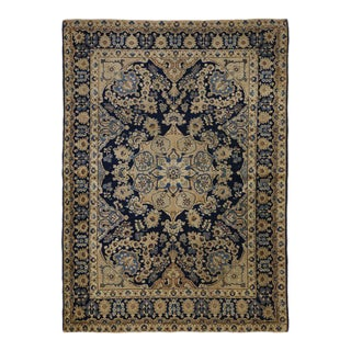 Antique Persian Tabriz Rug with Hollywood Regency Style