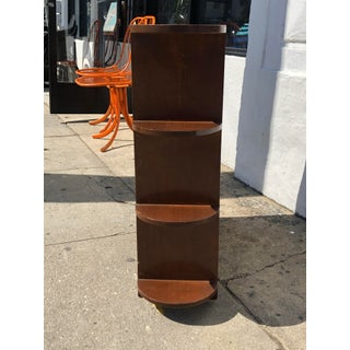 1970s Mid-Century Wooden Corner Shelving Unit Preview