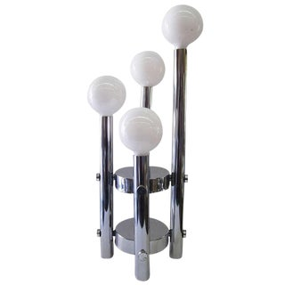 Four-Tier Chrome Table Lamp Attr. To Robert Sonneman