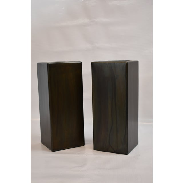 Contemporary Antic Steel Boxes - A Pair For Sale - Image 3 of 4
