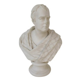 Antique Bust of Sir Walter Scott For Sale