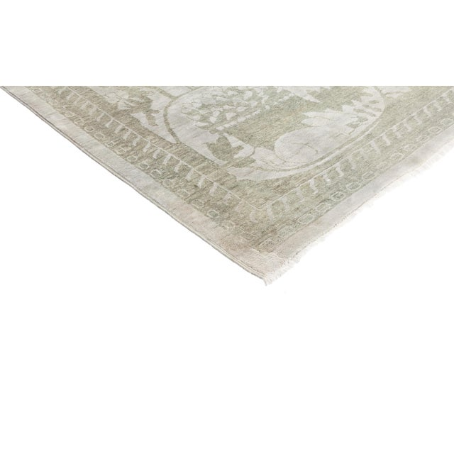 """New Silver Hand-Knotted Rug - 5' 10"""" x 8' 5"""" - Image 2 of 3"""