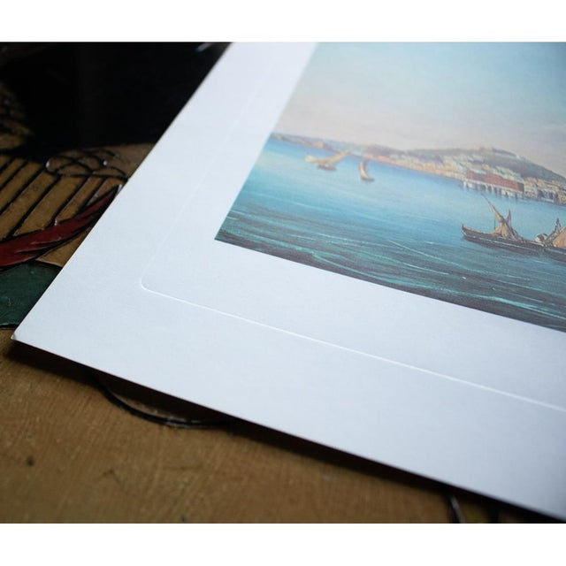 "1964 ""Naples From the Sea"", Original Lithograph For Sale - Image 4 of 8"