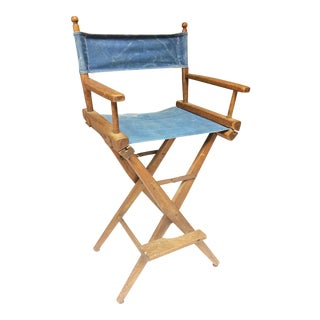 Vintage Wood High Back Folding Director Chair