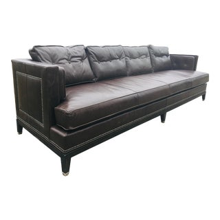 Michael Weiss for Vanguard Furniture Co. Leather Sofa. For Sale