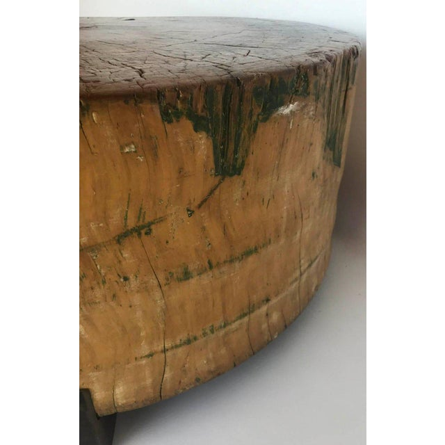 Vintage Butcher Block Table For Sale In Los Angeles - Image 6 of 8
