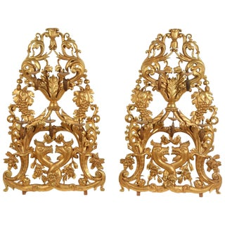 Pair of Gilt Venetian Wall Sconces For Sale