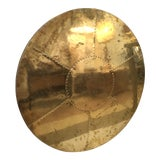 Image of Brass Clad Tabletop by Sarreid Ltd For Sale
