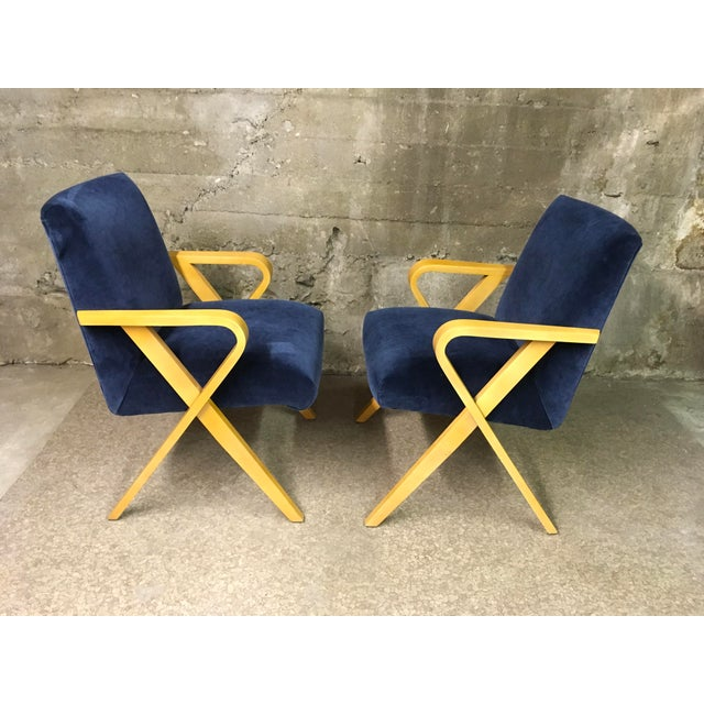 1940s Vintage Thonet Bentwood Armchairs - a Pair For Sale - Image 12 of 13