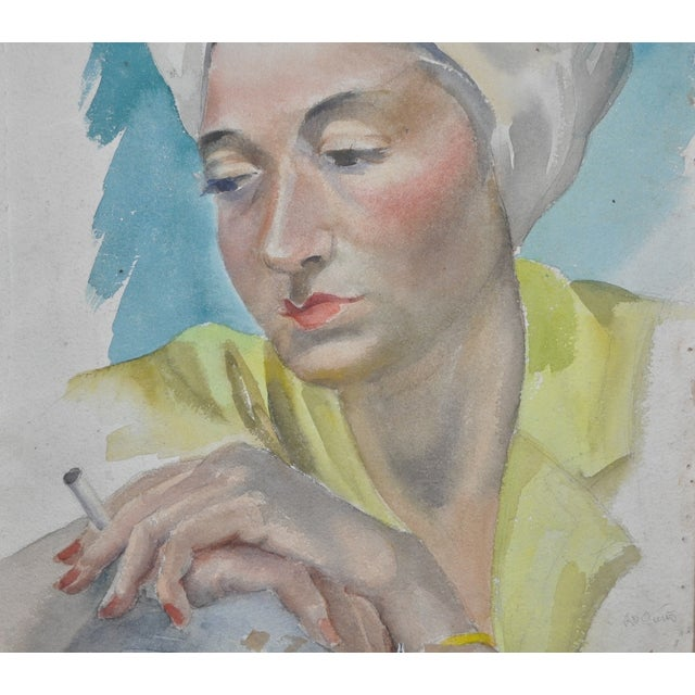 Two Sided Watercolor by Lillian Hamilton C.1950's - Image 2 of 5
