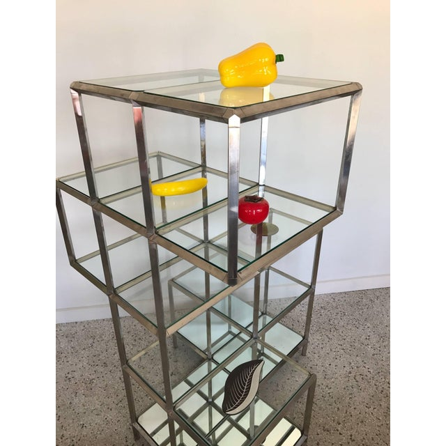 Metal 1960s Modern Chrome Etagere For Sale - Image 7 of 11