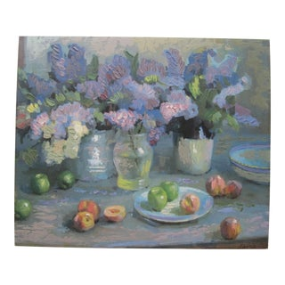 Acrylic Embellished Spring Still-Life Print For Sale
