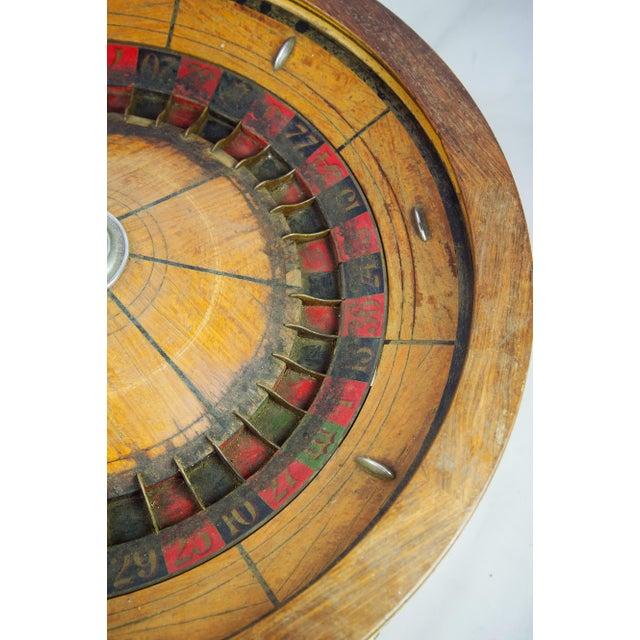 Large Antique Vintage Roulette Wheel - Image 7 of 9