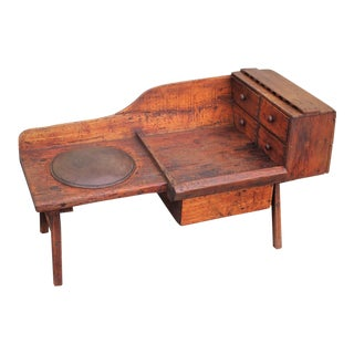 Early 19th Century Folky Cobblers Bench from Pennsylvania For Sale