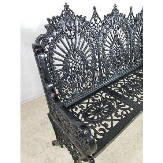 Antique American Cast Iron Park Bench For Sale - Image 10 of 13
