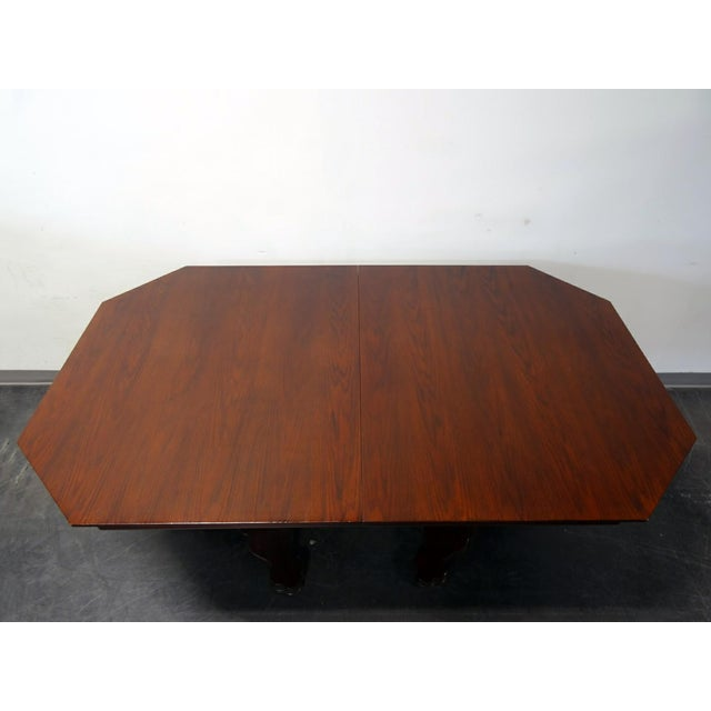 EJ Victor Transitional Double Pedestal Dining Table For Sale In Charlotte - Image 6 of 11