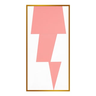 "Large ""Pink Jagged"" Print by Jason Trotter, 26"" X 51"" For Sale"