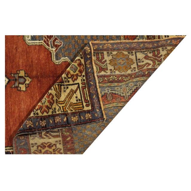 Islamic Vintage Turkish Oushak Rug- 5′2″ × 11′7″ For Sale - Image 3 of 3