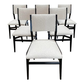 Gio Ponti Style Dining Chairs - Set of 6 For Sale