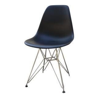 Eames 3rd Generation Black Molded Plastic Eiffel Chair For Sale