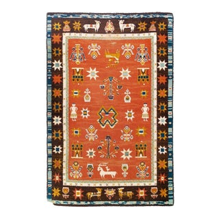 Danish Modern Ege Village Life Floor Rug - 6' X 9' For Sale