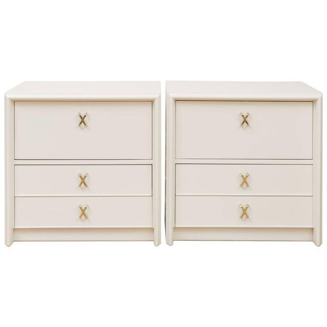 Paul Frankl Ivory Lacquered Nightstands - a Pair - Image 7 of 7