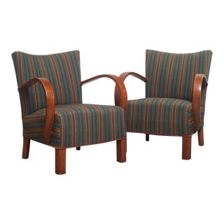 Vintage Art Deco Danish Chairs - A Pair For Sale