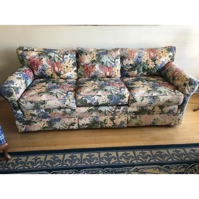 Antique Floral Sofa For Sale - Image 4 of 4