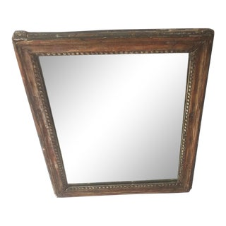 Antique Architectural Panel Mirror For Sale