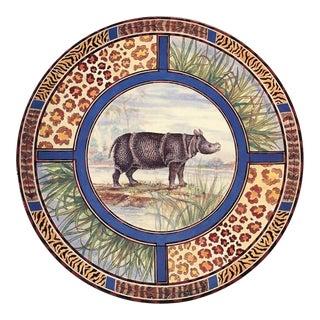 """Gien France """"Savane"""" Round Platter or Chop Plate For Sale"""