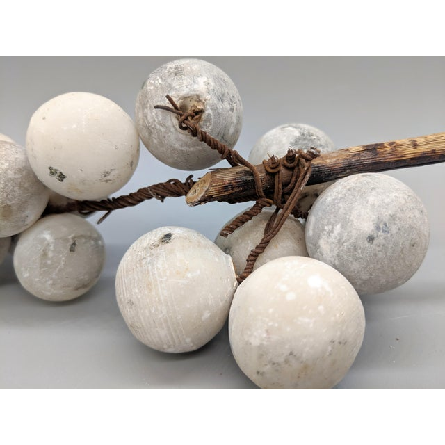 Late 19th Century Antique Italian Hand Carved Marble Fruit- Set of 3 For Sale - Image 5 of 12