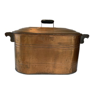 Deluxe Copper Boiler and Wash Tub For Sale