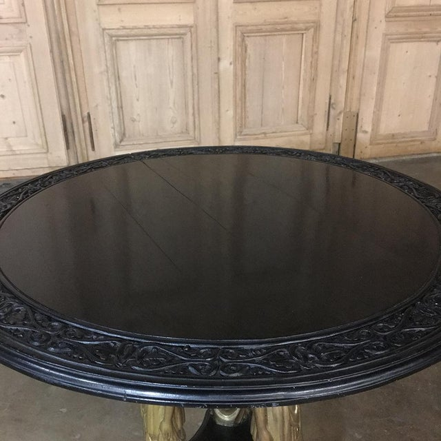 19th Century Second Empire Caryatid Center Table For Sale - Image 10 of 12