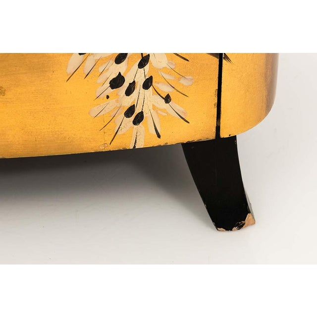 Early 20th Century Pair of Gold Lacquered Chinese Chests For Sale - Image 5 of 13