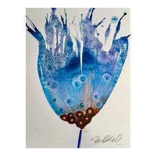"""""""Blue Tube"""" Original Watercolor Painting"""