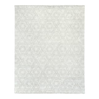 Exquisite Rugs Melbourne Hand Loom Wool & Cotton Beige - 10'x14' For Sale