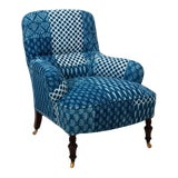 Image of 1900s Victorian Upholstered Armchair For Sale