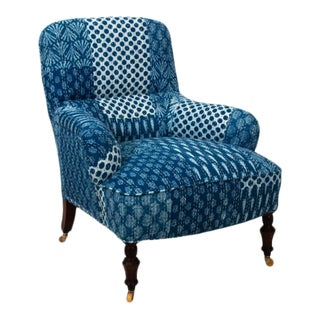 1900s Victorian Upholstered Armchair For Sale