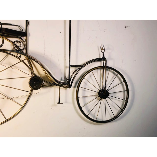 Mid-Century Modern Large Scale Curtis Jere Bicycle Wall Sculpture For Sale - Image 3 of 10