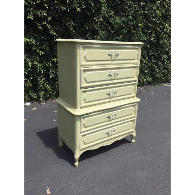 French Vintage French Provincial Chest of Drawers by Henry Link For Sale - Image 3 of 8