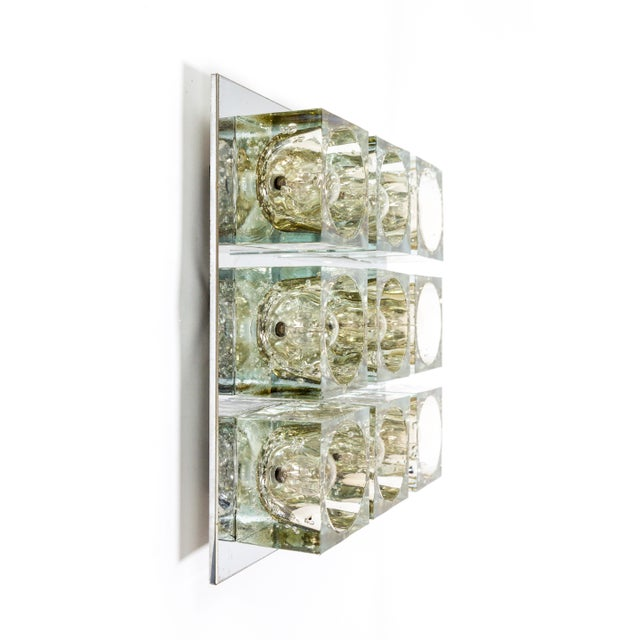 Lightolier Glass Blocks 9-Light Flush Mount For Sale In San Francisco - Image 6 of 13