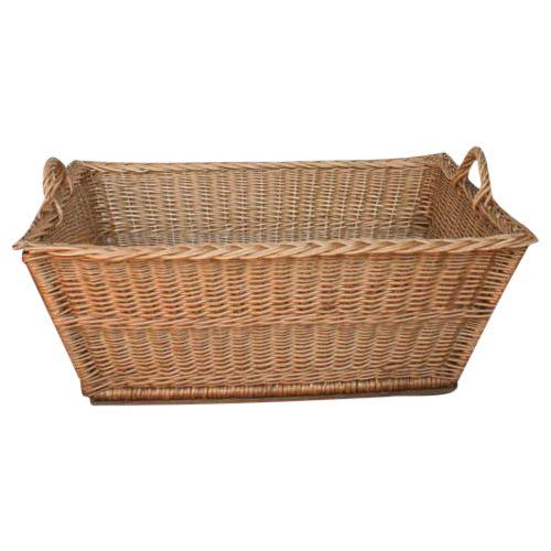 Vintage French Laundry Basket - Image 1 of 8