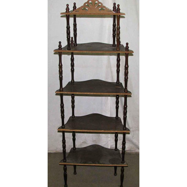 Dark Wooden 5 Tier Shelf - Image 7 of 10