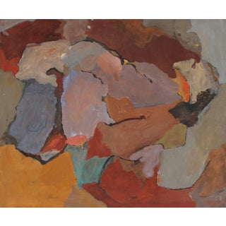 Jack Freeman San Francisco Abstract Expressionist Painting, Circa 1960s For Sale